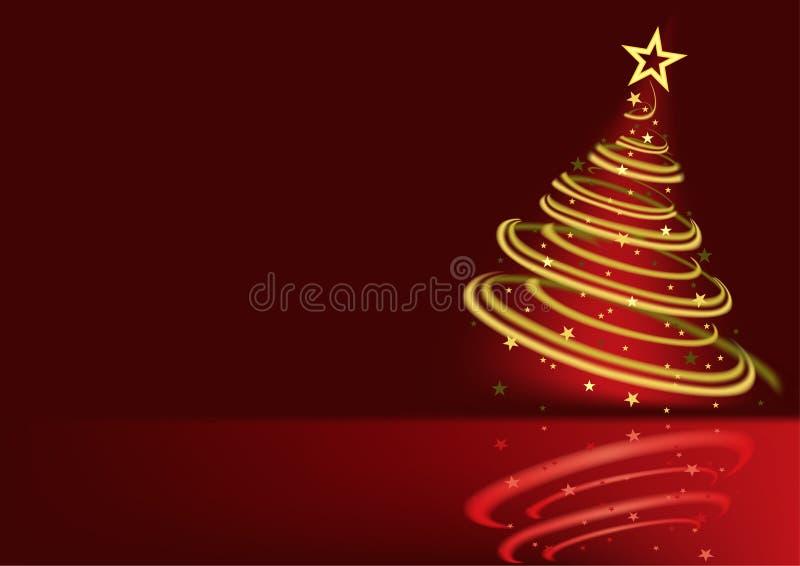 Gloeiende Kerstboom stock illustratie