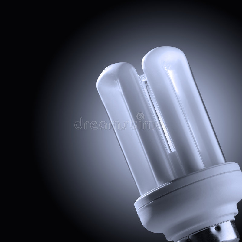 Gloeiende lamp stock afbeelding