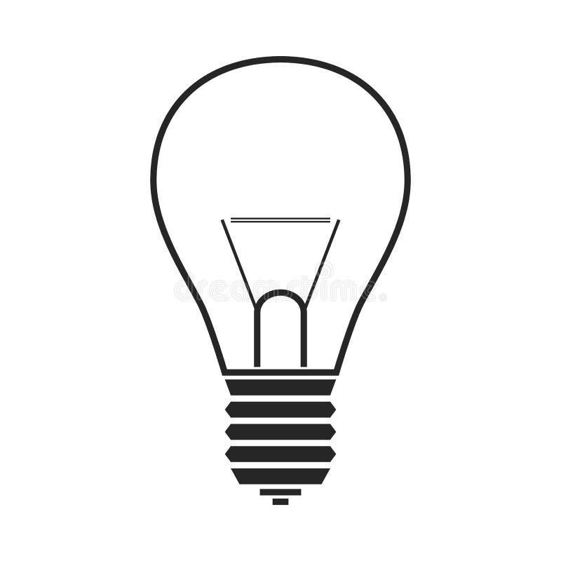Gloeiende lamp Vlak pictogram, voorwerp of symbool stock illustratie