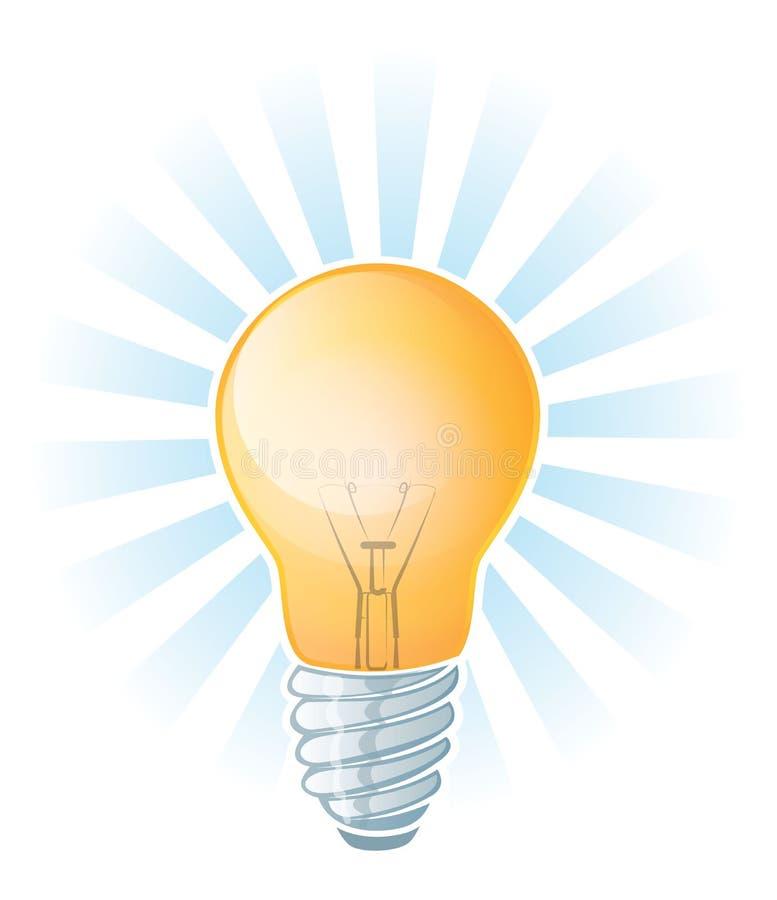 Gloeiende Lightbulb-Illustratie vector illustratie