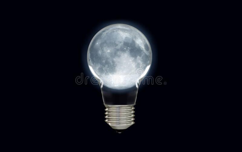 Gloeiende maan gloeilamp royalty-vrije stock fotografie