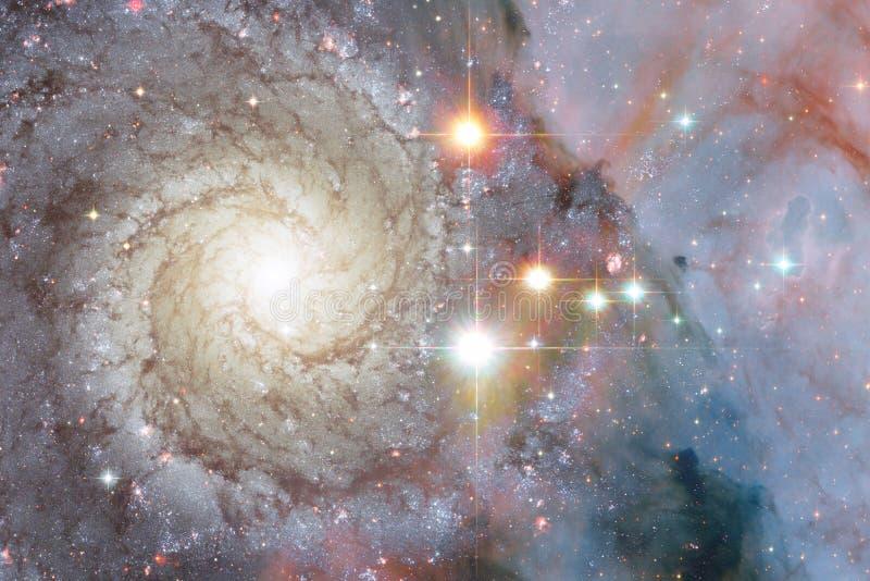 Gloeiende melkweg, ontzagwekkend science fictionbehang royalty-vrije stock foto