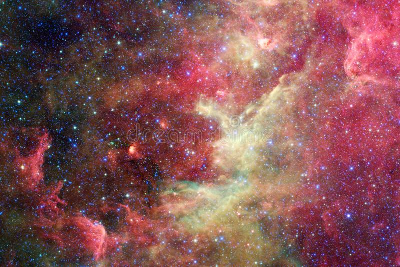 Gloeiende melkweg, ontzagwekkend science fictionbehang stock illustratie