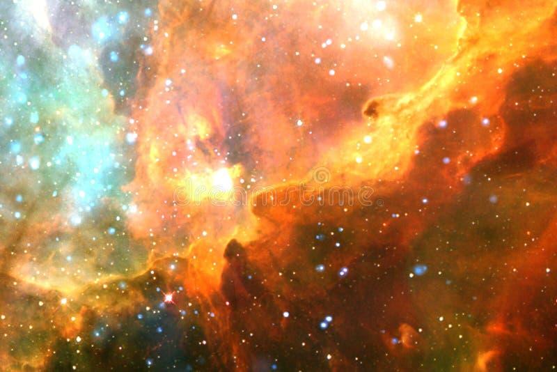 Gloeiende melkweg, ontzagwekkend science fictionbehang stock afbeelding