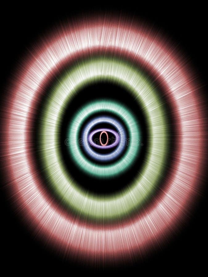 Gloeiende ringen stock illustratie