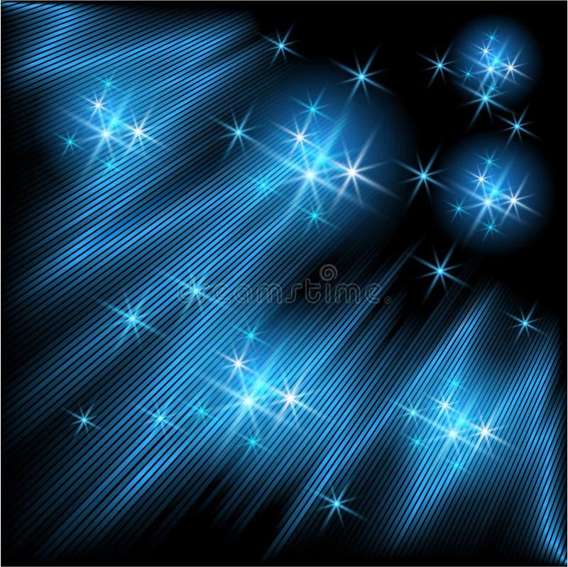 Gloeiende stralen en sterren royalty-vrije illustratie