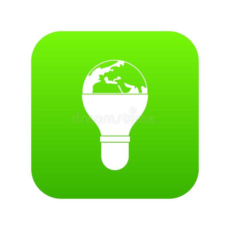 Download Gloeilamp En Digitale Groen Van Het Aardepictogram Vector Illustratie - Illustratie bestaande uit concept, pictogram: 114225928