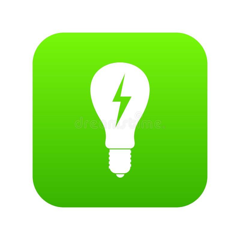 Download Gloeilamp Met Bliksem Binnen Pictogram Digitale Groen Vector Illustratie - Illustratie bestaande uit idee, glas: 114226759