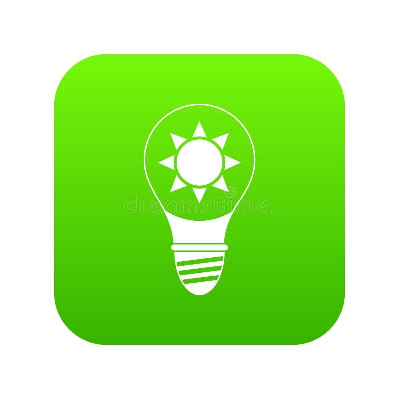 Download Gloeilamp Met Zon Binnen Pictogram Digitale Groen Vector Illustratie - Illustratie bestaande uit apparatuur, concept: 114226612