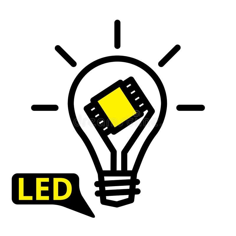 Gloeilampenlamp vector illustratie
