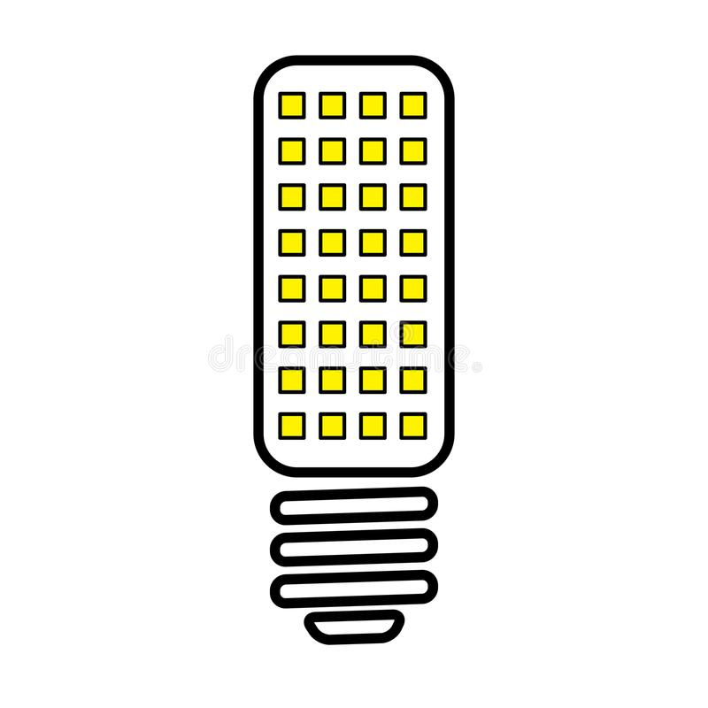 Gloeilampenlamp stock illustratie
