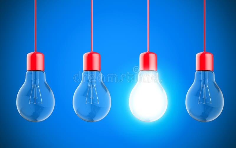 Gloeilampenlampen royalty-vrije stock afbeeldingen