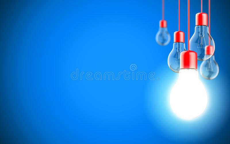 Gloeilampenlampen stock foto