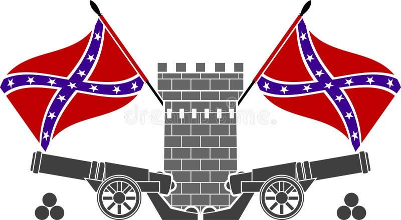 Gloire de confédération illustration stock