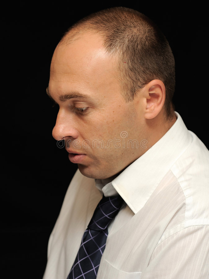 Gloomy businessman stock images