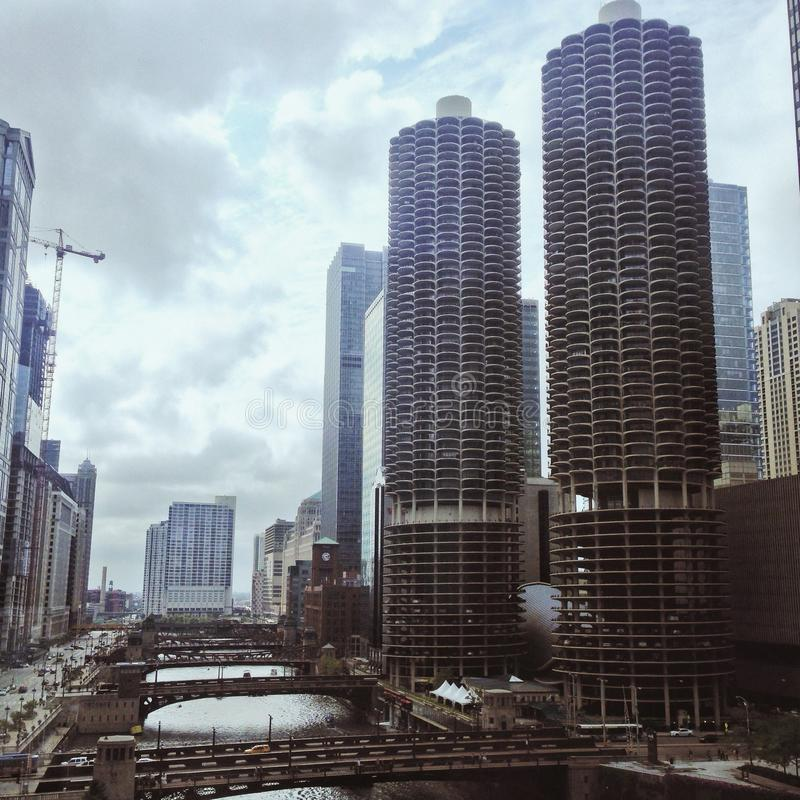 Gloomy chicago royalty free stock images