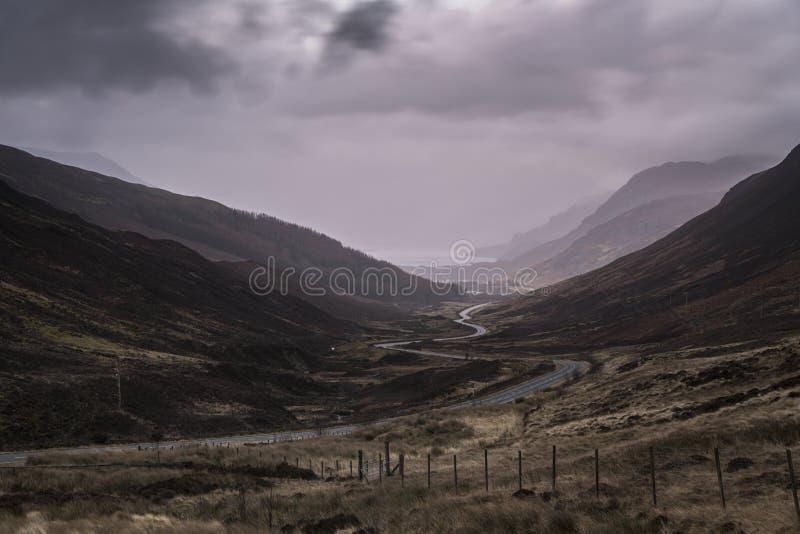 Gloomy Glen Docherty royalty free stock photography