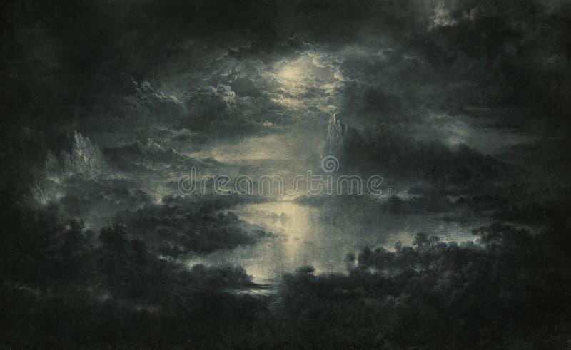 Gloomy landscape royalty free stock photography