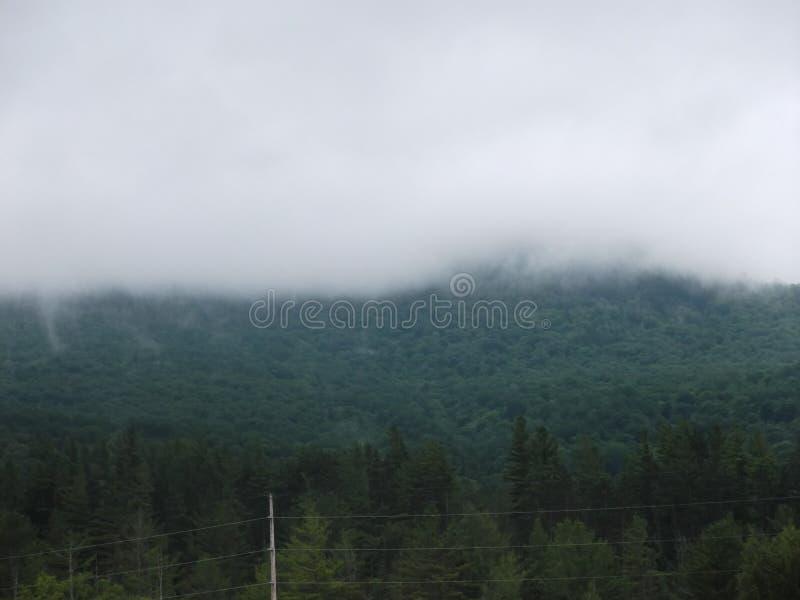Gloomy looking mountain royalty free stock photography