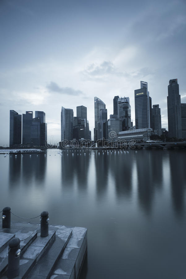 Download Gloomy Picture Of Singapore Scene Editorial Photo - Image: 28133086