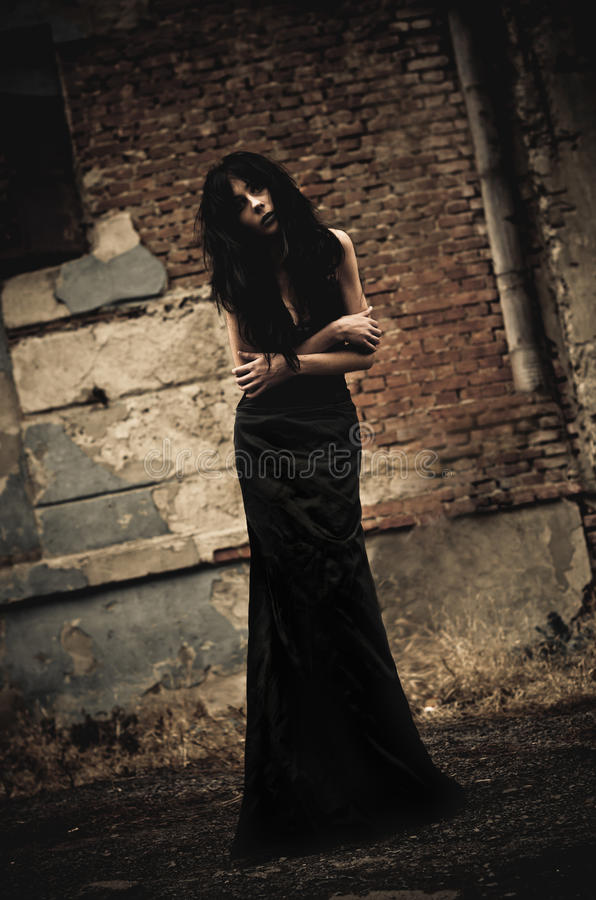Free Gloomy Portrait Of Sick Goth Girl Stock Images - 23905174