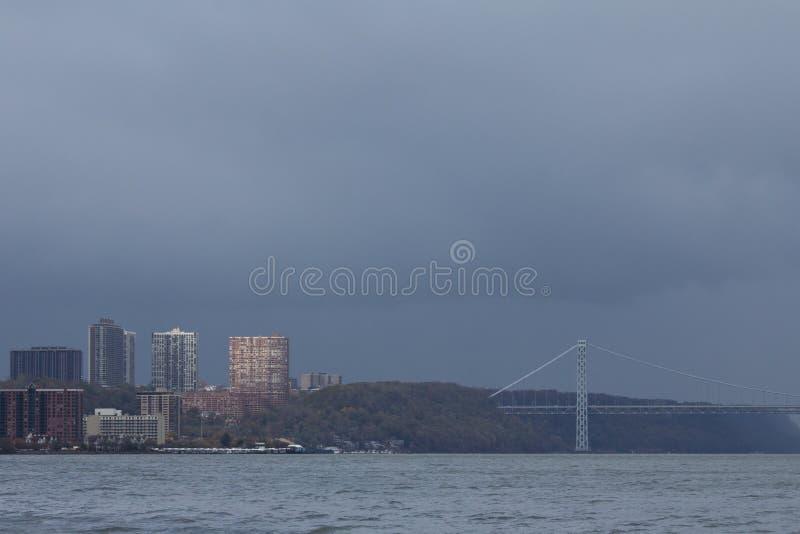 Gloomy Rain Clouds After Hurricane Sandy Editorial Stock Photo