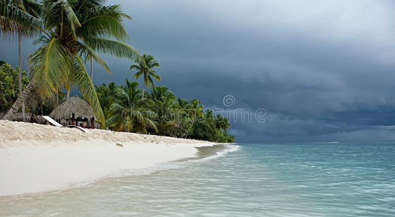 Gloomy skies over the island. royalty free stock images