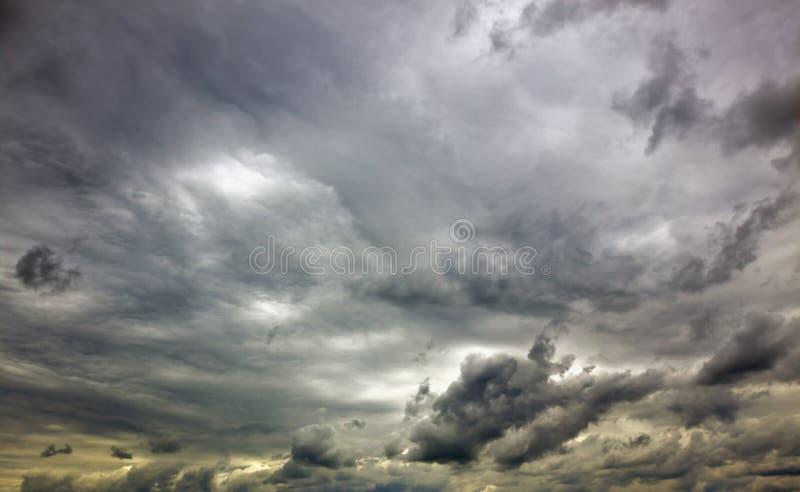 Gloomy sky royalty free stock photography