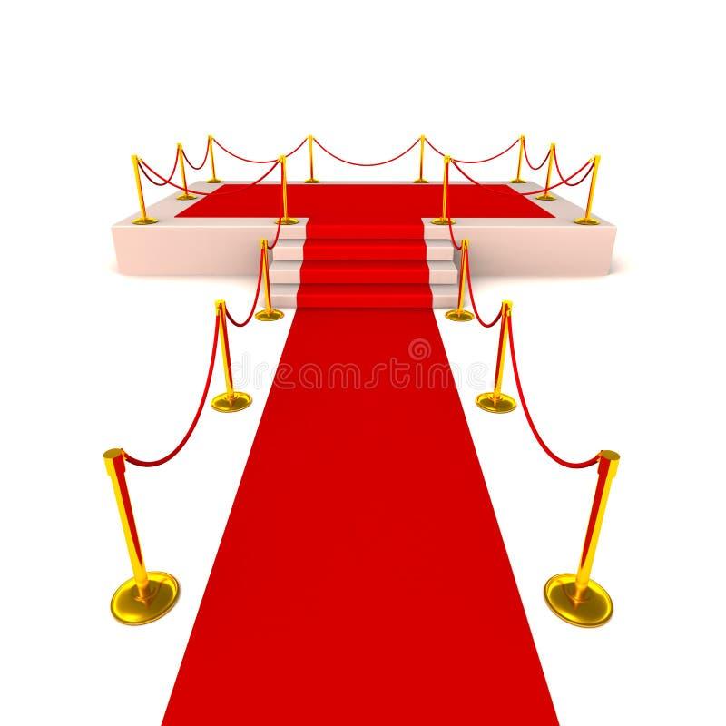 Gloria de la alfombra roja ilustración del vector