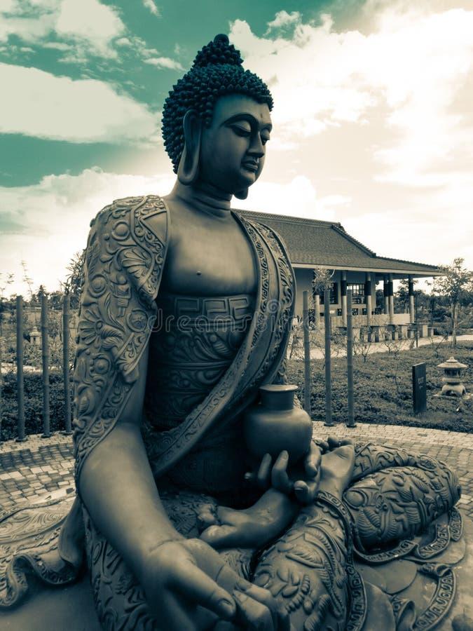 Gloria di lustro di Buddha fotografie stock