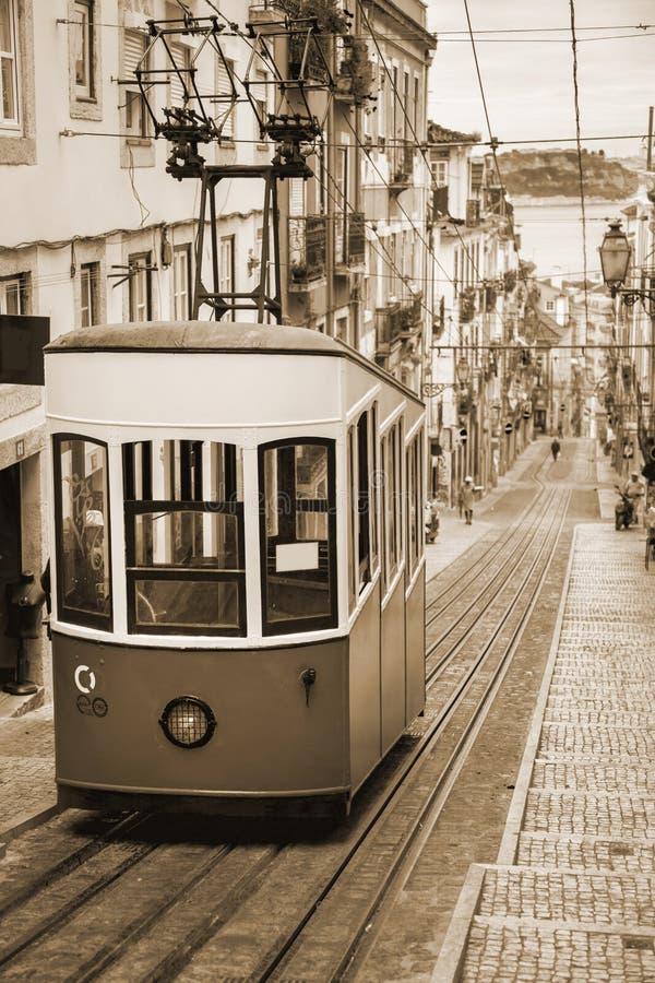 Gloria Funicular de Lisboa - Portugal, Europa fotos de archivo