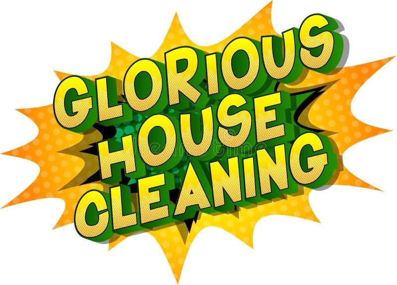 Glorierijk Huis die - de Grappige woorden van de boekstijl schoonmaken royalty-vrije illustratie