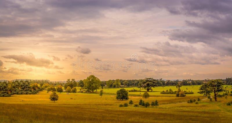 Glorierijk Worcestershire-Platteland royalty-vrije stock foto