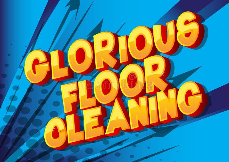 Glorierijke Vloer die - de Grappige woorden van de boekstijl schoonmaken vector illustratie