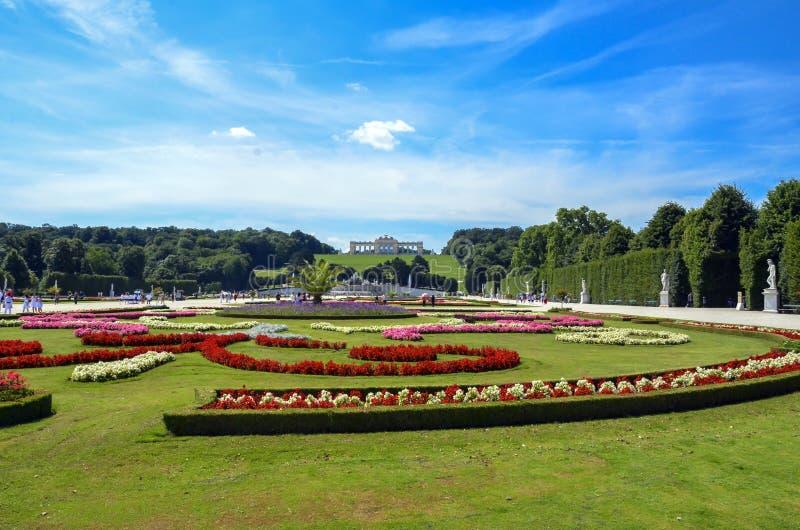 Gloriette dans le palais de Schonbrunn, vue de Vienne, Autriche images libres de droits