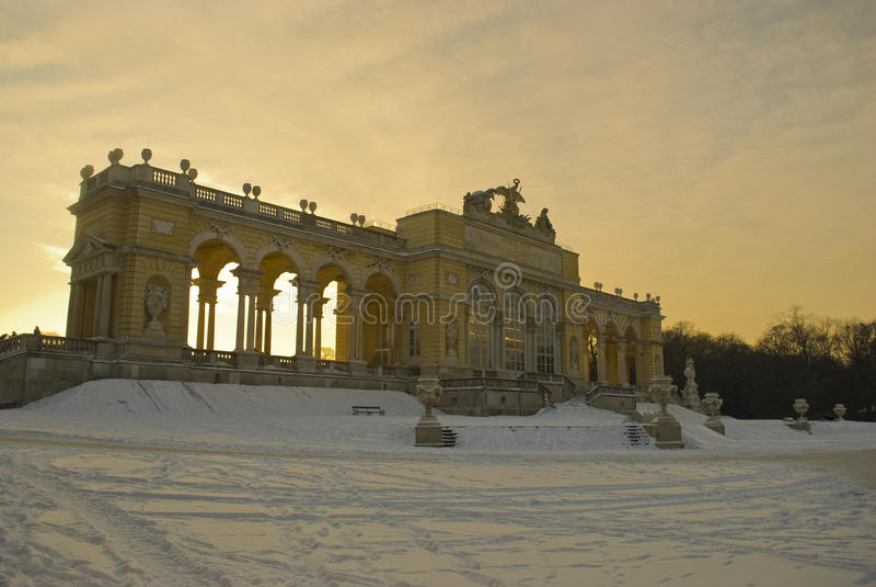 Gloriette, palais de Schoenbrunn, Vienne image libre de droits
