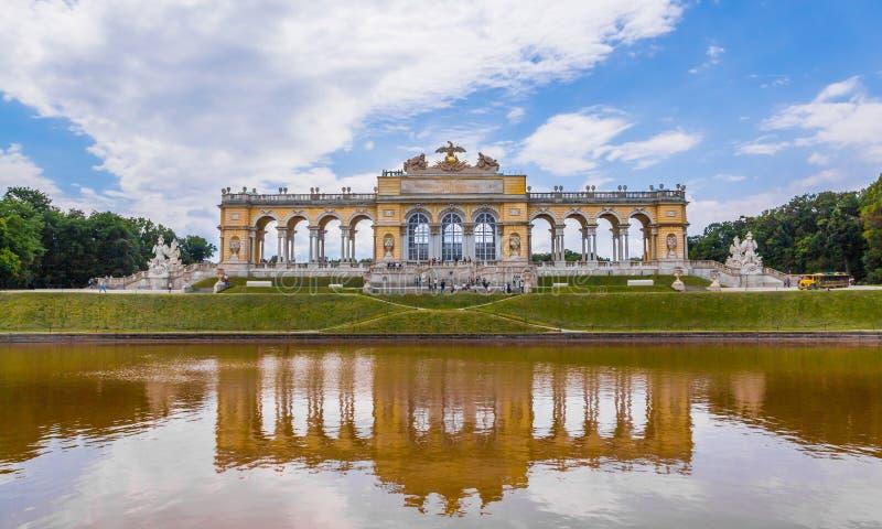Gloriette Reflection in Schonbrunn Palace Garden, Vienna royalty free stock images