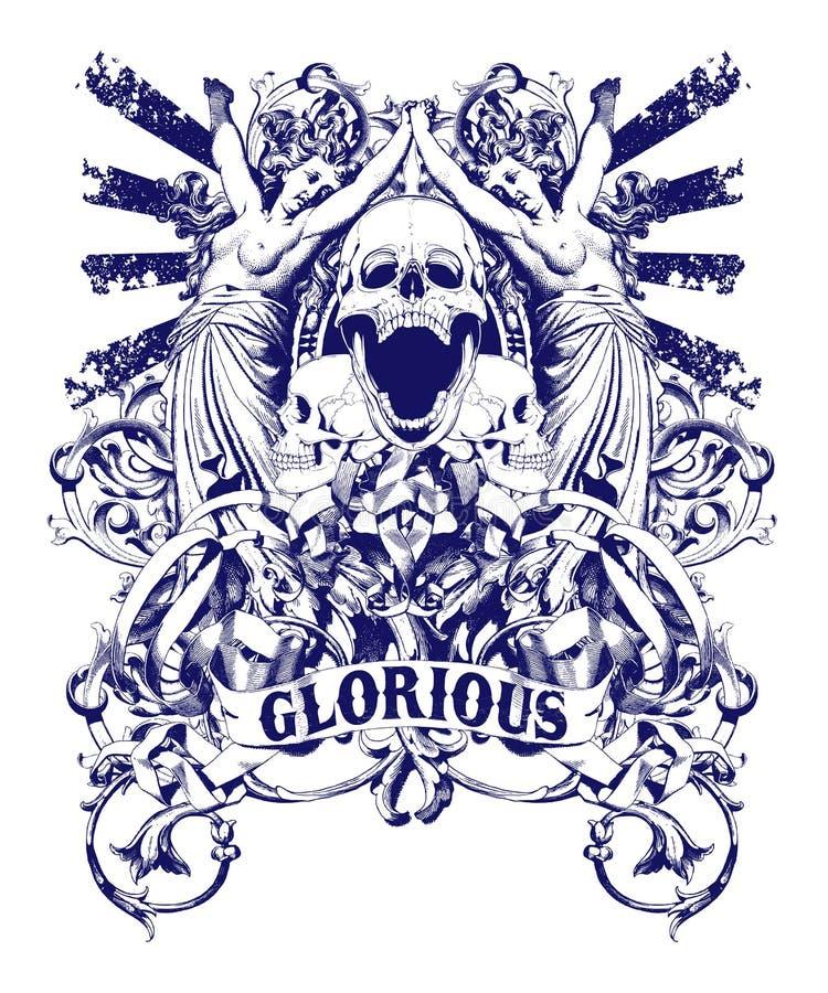 Glorioso ilustração royalty free