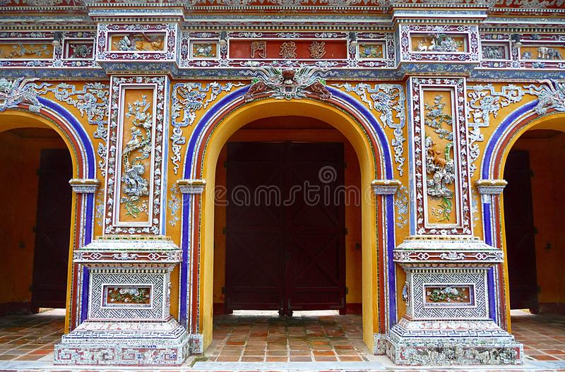 Download Glorious Gate At Citadel In Hue, Vietnam Stock Photo - Image: 15243612