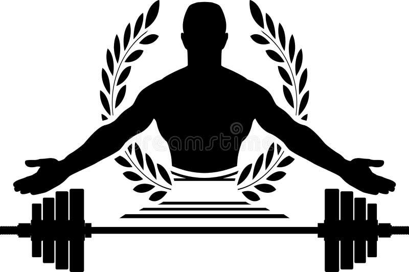 Glory of bodybuilding royalty free illustration