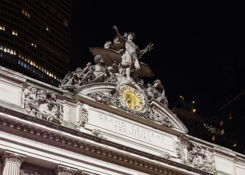 The Glory of Commerce sculpture adorns Grand Central Station royalty free stock photography