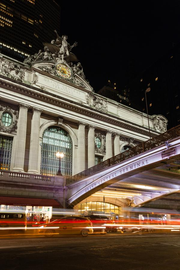 The Glory of Commerce sculpture adorns Grand Central Station stock photography