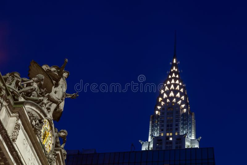 Glory of Commerce Sculpture, Grand Central Station stock images
