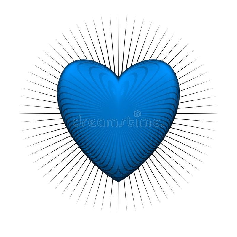 Gloss Bur Blue Heart Royalty Free Stock Images