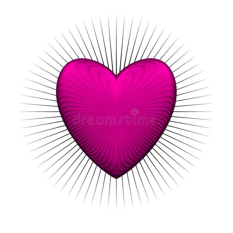 Download Gloss bur pink heart stock illustration. Illustration of gloss - 7200206