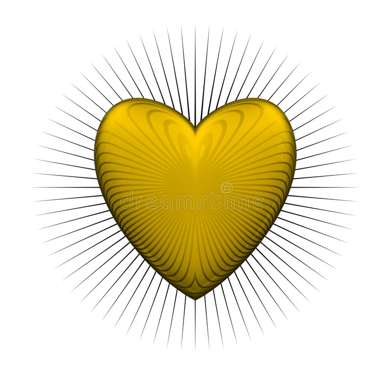 Download Gloss bur yellow heart stock illustration. Image of yellow - 7200235