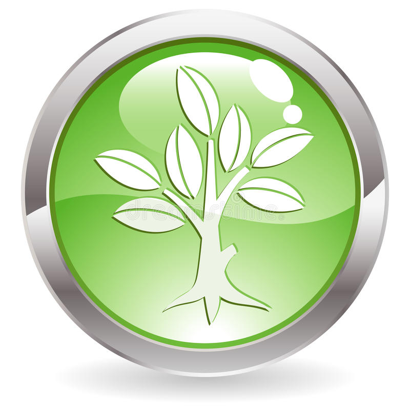 Download Gloss Button With Tree Stock Images - Image: 15924794