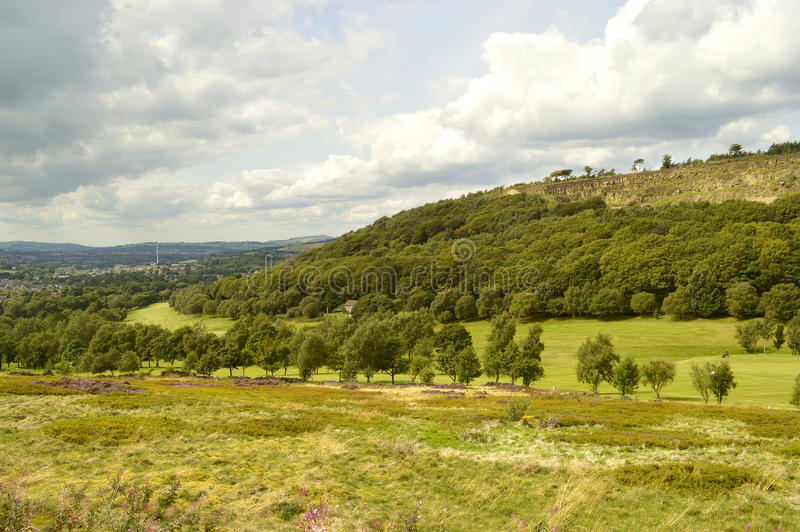 Glossop-Golfplatz in Derbyshire stockbilder