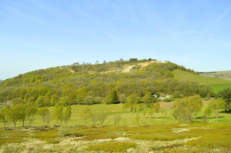 Glossop-Golfplatz in Derbyshire lizenzfreie stockfotografie