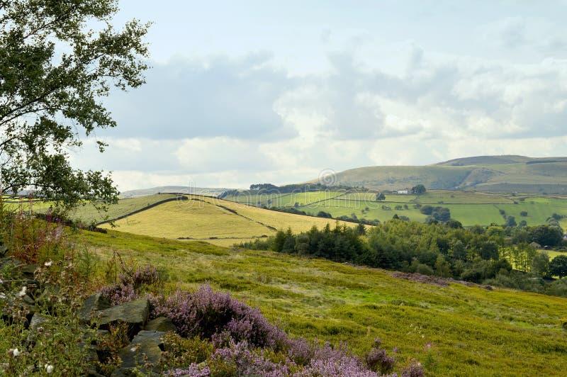 Glossop-Landschaft in Derbyshire lizenzfreies stockfoto